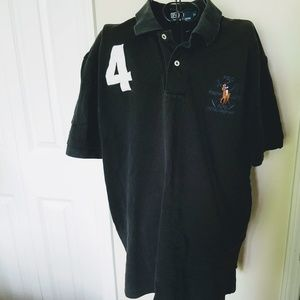 Ralph Lauren Polo Shirt Size XL Black Large Pony
